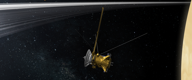 1.Cassini sobre Júpiter. Fuente: NASA