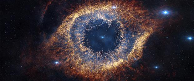 1.Vista infrarroja de la nebulosa helix. Fuente: Wikimedia