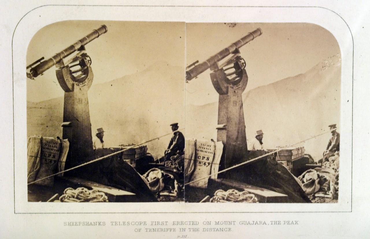 Telescopio en la Guajara. 1856. Fuente: Choleando